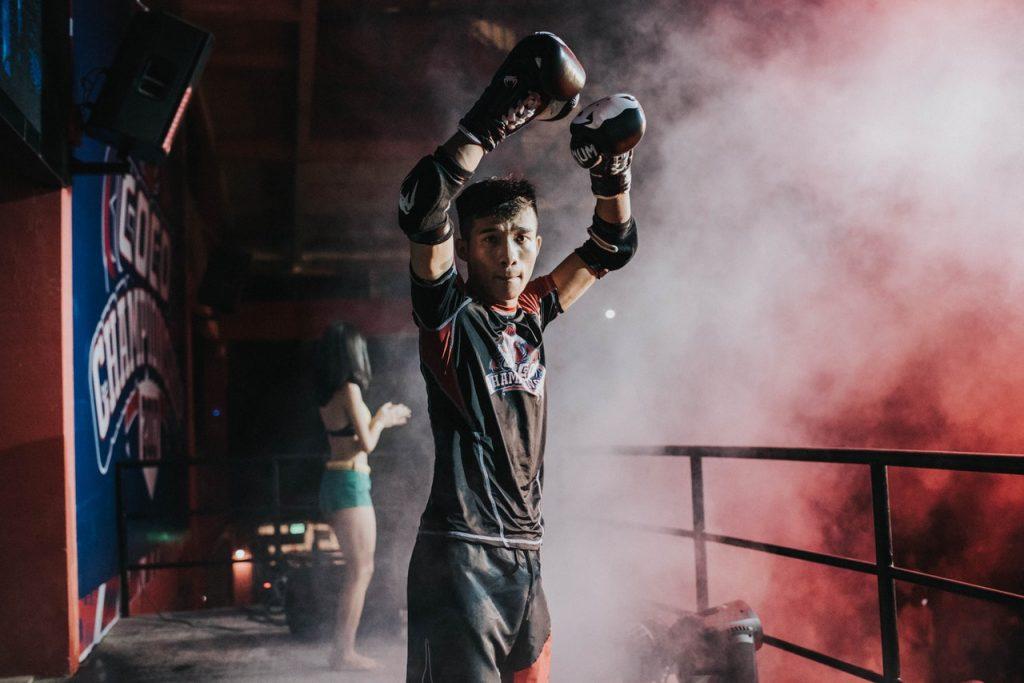 man boxing