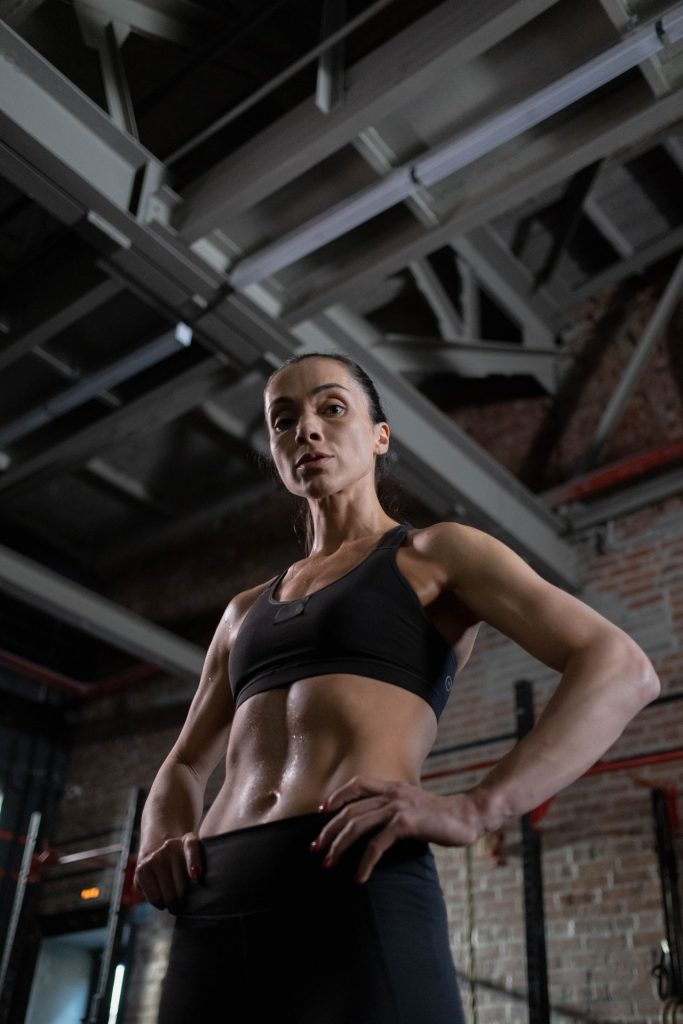 woman with strong core